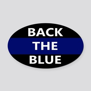 BACK THE BLUE Oval Car Magnet
